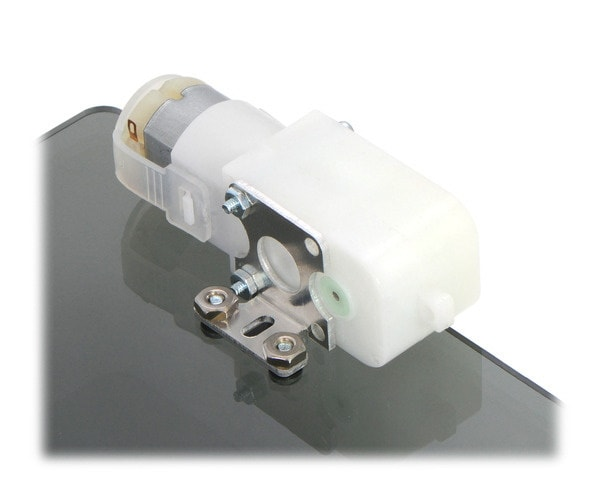 200to1 Plastic Gearmotor 90 degree output mounted