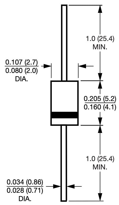 DO-41 Package Dimensions