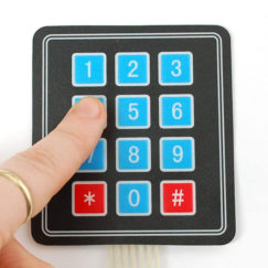 Keypad, Flexible Membrane, 3x4 Matrix