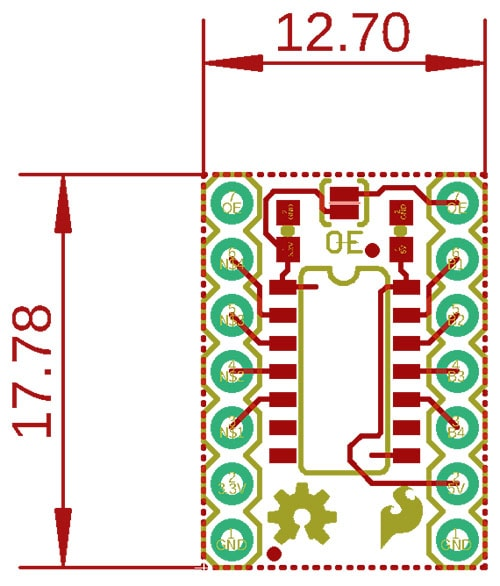 Voltage Level Translator Dimensions