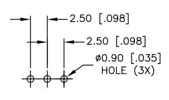 Proto-PIC Recommended Land Pattern for SPDT mini Switch