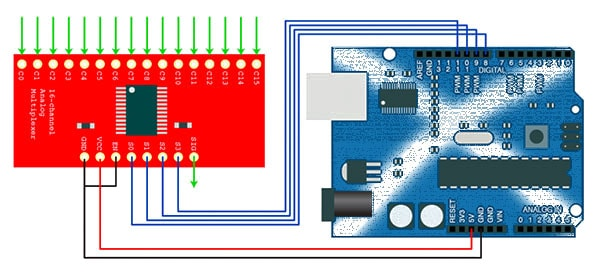 Using the multiplexer with Arduino
