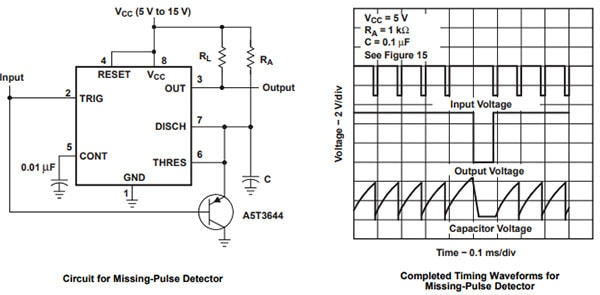 555 Timer Missing-Pulse Detection