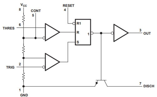 555 Timer Functional Diagram