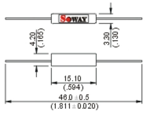 Insulated Reed Switch Dimensions
