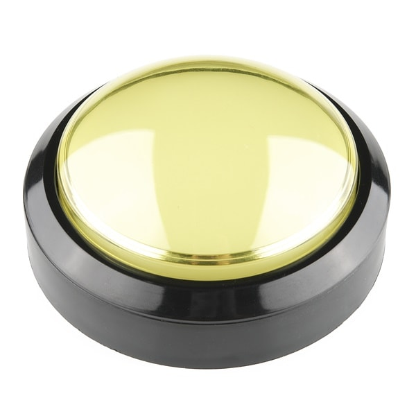 Huge Big Button Yellow 100mm 10cm Proto-PIC