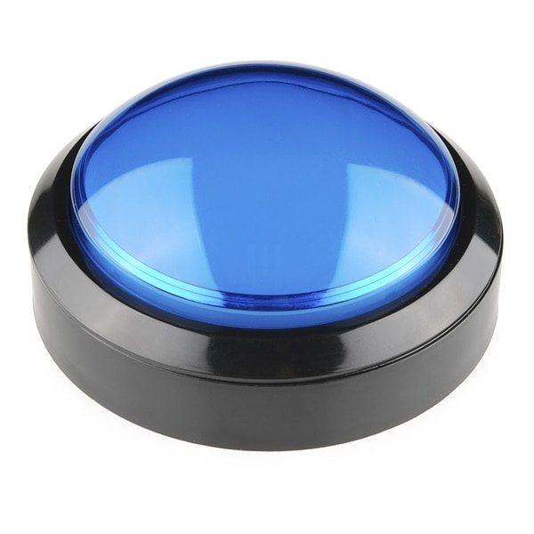 Huge Big Button Blue 100mm 10cm Proto-PIC
