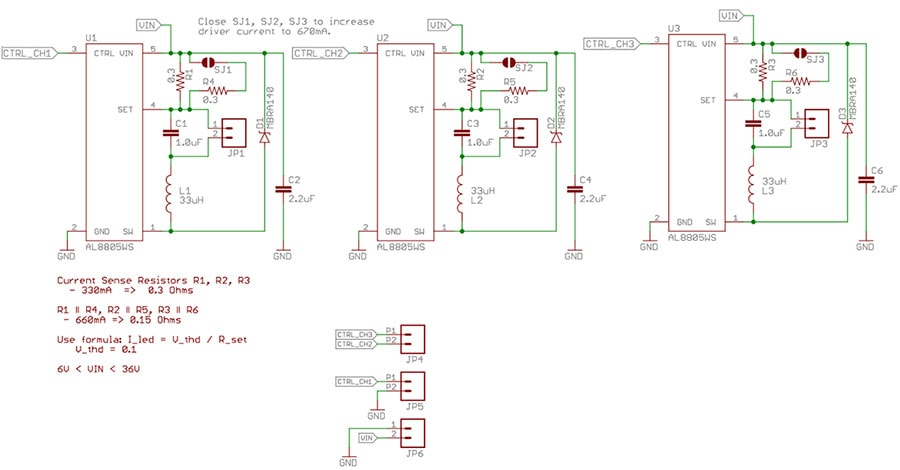 PicoBuck LED driver Schematic