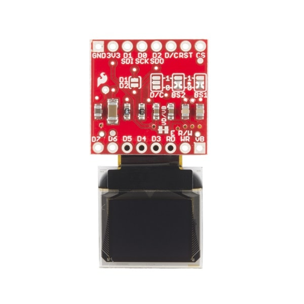 Sparkfun Micro OLED Breakout Top View Proto-PIC