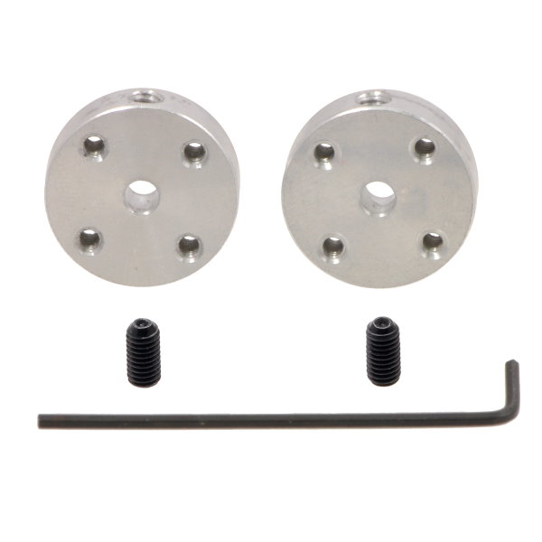 Pololu 1078 Aluminium Mounting Hubs with set screws and Allen wrench
