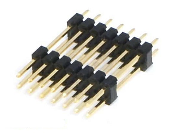 """0.1"""" (2.54 mm) Extended Male Header: 2x7-Pin, 22.85 mm"""