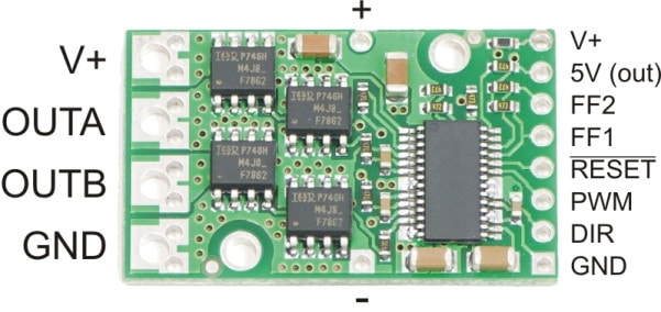 High-Power Motor Driver 24v12 Connections Diagram