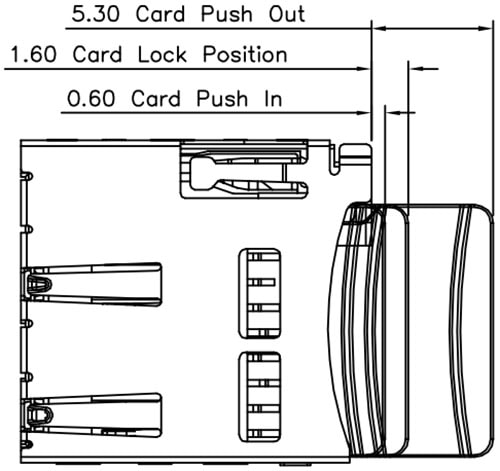 microSD Socket with Card Dimensions