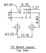 Proto-PIC Recommended Land Pattern for PRT-00132