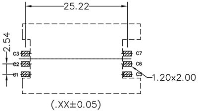 Sim Socket Recommended PCB Land Pattern