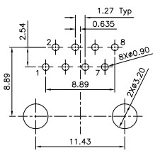 Proto-PIC Recommended land patter for PRT-00643