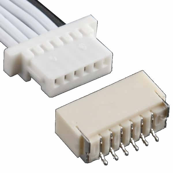 JST SH Jumper 6-Pin Wire and Connector Assembly