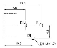 Proto-PIC Recommended PCB Land Pattern for PRT-10811