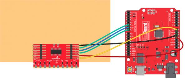 Large Digit Driver Connecting Arduino