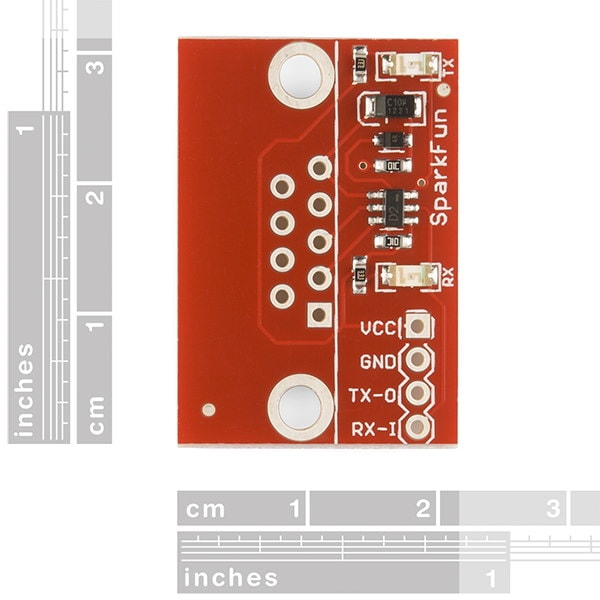SparkFun RS232 Shifter SMD (No DB9) Top side dimensions