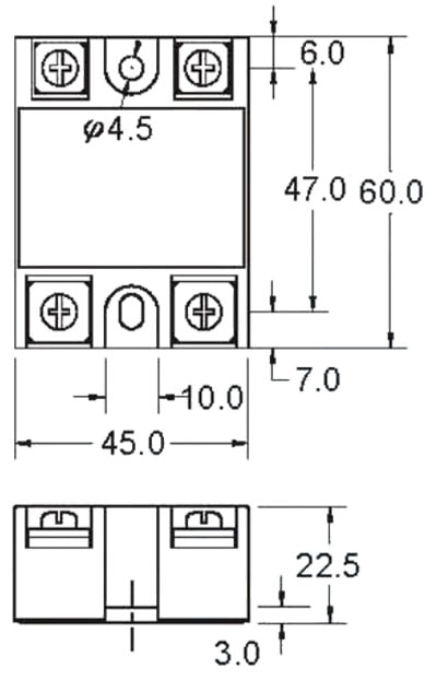 SSR Solid State Relay Dimensions