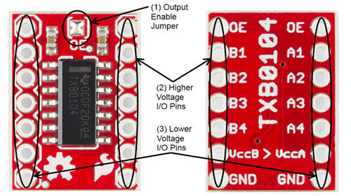 TXB0104 Breakout Board Pin Out