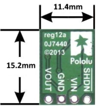 3.3V Step-Up Voltage Regulator U1V11F3 Dimensions