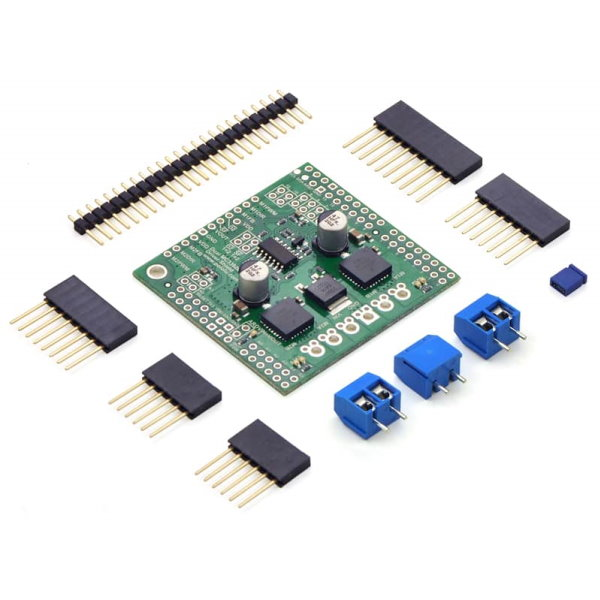 Dual MC33926 Motor Driver Shield with included hardware