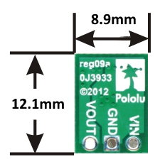 S7V7F5 Step-Up/Step-Down Voltage Regulator Pololu dimensions image