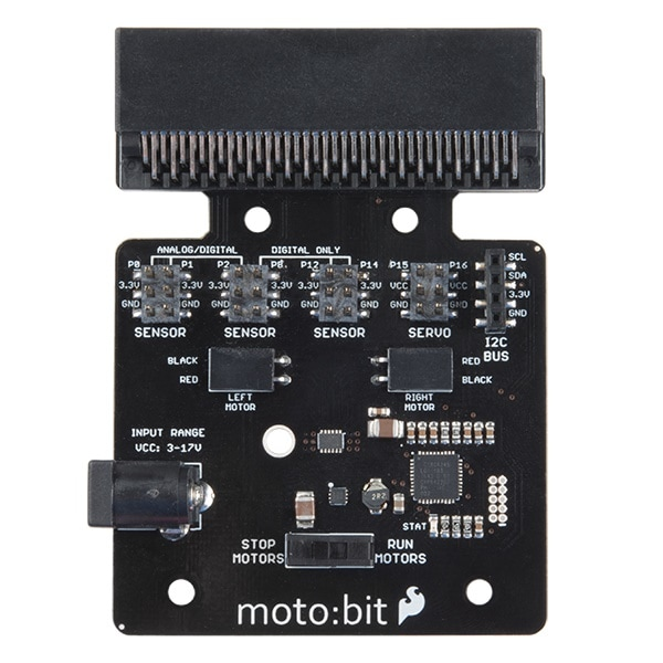 moto:bit motor driving robot controller for the bbc micro:bit top view proto-pic