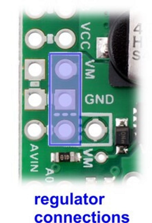 PPPOL2519 Dual MAX 14870 Motor Driver Shield for Arduino regulator connections