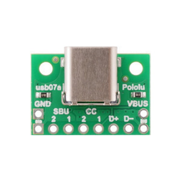USB 2.0 Type-C Connector Breakout Board Top View