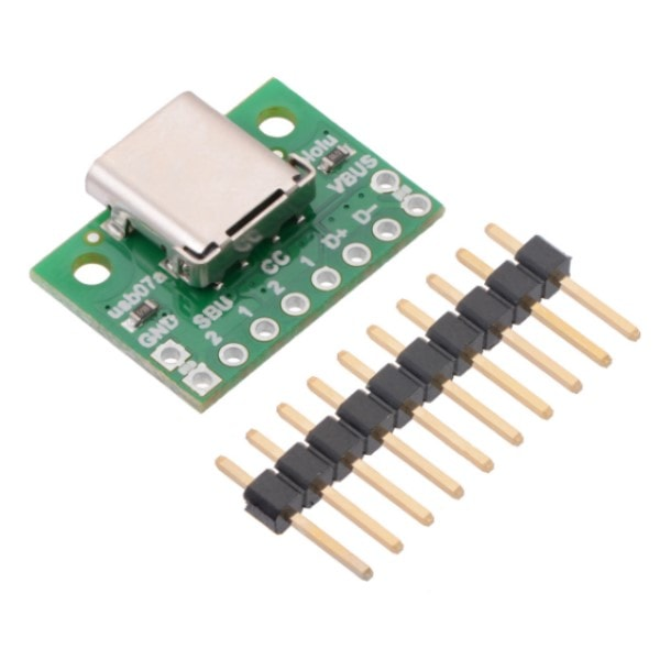USB 2.0 Type-C Connector Breakout Board