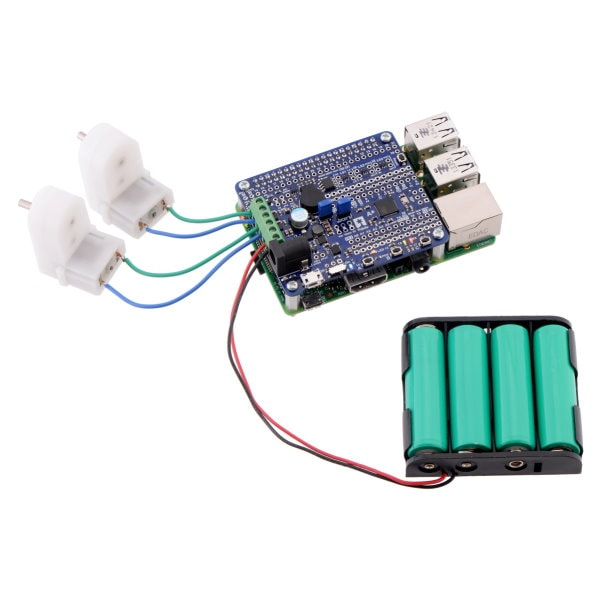 A-Star 32U4 Robot Controller with with motors and Raspberry Pi Bridge
