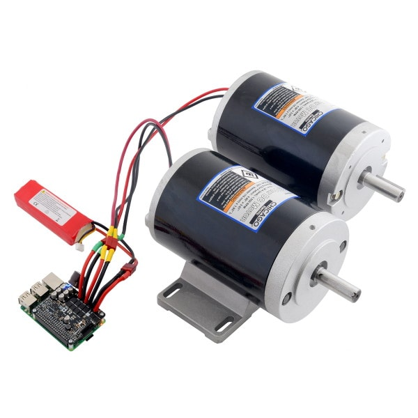 Dual G2 High Power Motor Driver with two high power motors
