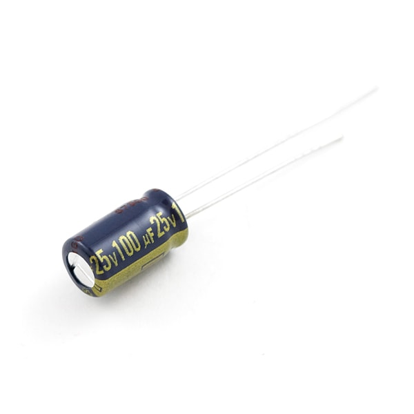 Capacitor, 100uF, 25V, Radial, Electrolytic