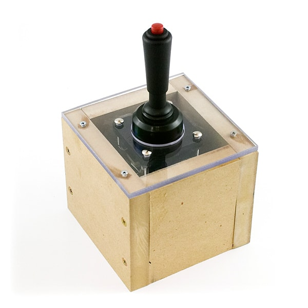 Arcade Joystick with button mounted