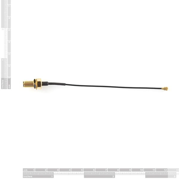Interface Cable, U.FL to SMA, Coaxial, Panel Mount