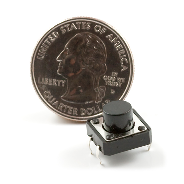 Buttons SparkFun COM-09190 Momentary Push Button Switch – 12mm Square