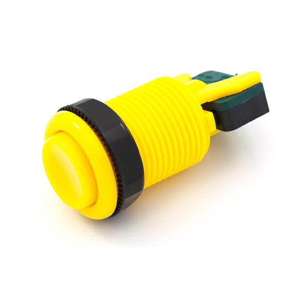 Button - Arcade Style, Concave, 35mm, Yellow