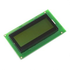 LCD Displays SparkFun LCD-09568 Serial Enabled 20×4 LCD – Black on Green 5V