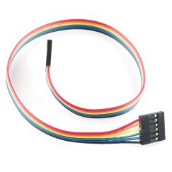 Cables and Leads SparkFun PRT-10376 Jumper Wire – 0.1″, 6-pin, 12″