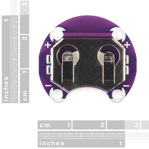 LilyPad Battery Coin Cell Holder, Switched, 20mm (DEV-13883)