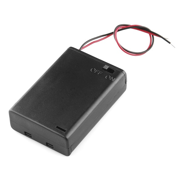 Battery Holder 3xAA with Cover and Switch