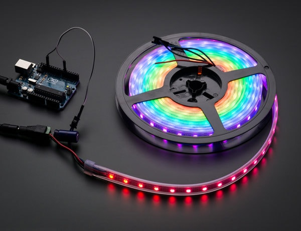 Digital RGB LED Weatherproof Strip 60 LED -1m-WHITE