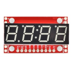 7-Segment Serial Display - Red (COM-11441)