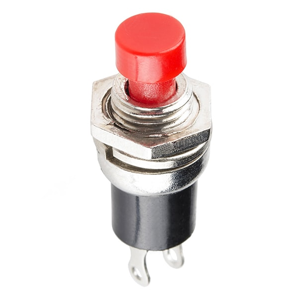 Momentary Button - Panel Mount (Red)