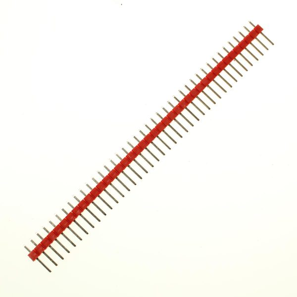 Components 40 Pin breakaway headers 0.1″ (2.54MM) pitch – Red