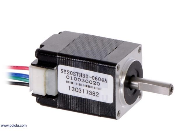 Motors and Actuators Stepper Motor: Bipolar, 200 Steps/Rev, 20x30mm, 3.9V, 600mA