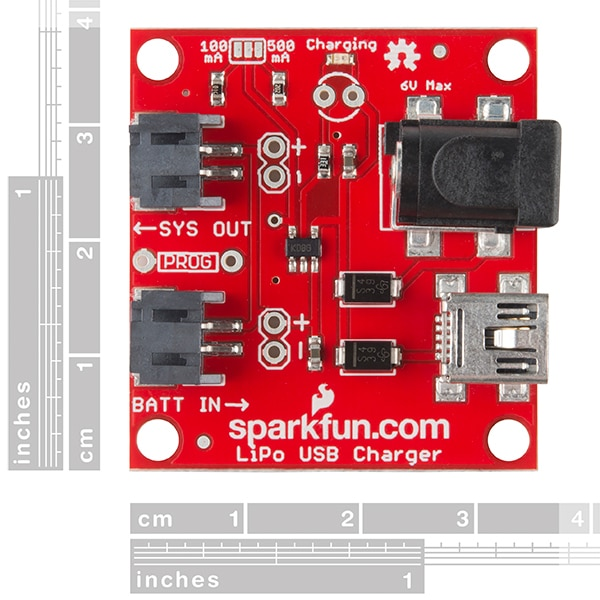 SparkFun PRT-12711 USB LiPoly Charger - Single Cell